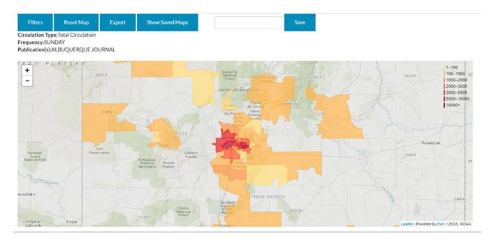 ZIP code data can be found in AAM's Distribution Map tab.